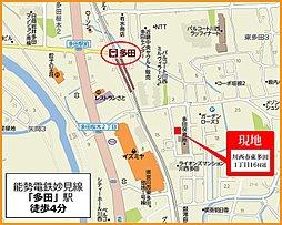 リブステージ東多田1丁目:交通図