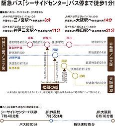 芦屋高浜 松韻の街(建築条件付宅地分譲):交通図