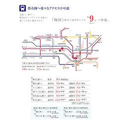 【KANJU】スマイルタウン阪急園田 ~利便性と潤いに包まれた全32区画~:交通図