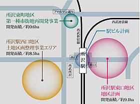 所沢駅を中心として再開発が進んでいます。