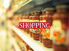大型のスーパーや量販店が点在。