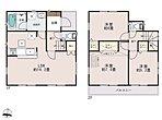廊下面積が少ない居住空間重視プラン。水まわりが近くに配置された家事動線がスムーズなプランです。