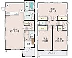 LDKはゆとりの17.81帖。人気の対面式キッチン。水廻りを集約させた機能的な家事動線。リビングイン階段。全居室6帖以上。8.65帖主寝室はドアがふたつ。将来的に間取り変更が容易です。収納充実。
