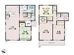【2号棟】LDKは広々18帖。人気の対面式キッチン。水廻りを集約させた機能的な家事動線。リビングの隣にはホッとできる和室を配置。収納充実。2部屋より出入り可能、ワイドバルコニー。