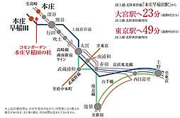 コモンガーデン本庄早稲田の杜・宅地【建築条件付土地】:交通図
