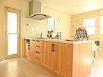 こんな可愛い理想のキッチンでしたら、毎日明るい気持ちで家事ができて楽しそう。。。(7月21日撮影)