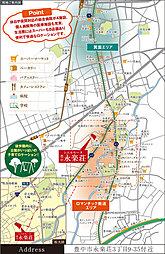 シエルセーヌ豊中永楽荘 全18区画 :交通図