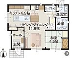 1階床面積/58.11m2(17.57坪)※画像はイメージです。