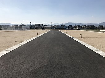 分譲地内道路です(幅員6m)