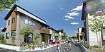 「ソラリスヴィータ柏市青葉台」では、街区内に「ふれあいパーク」を設置しています。全70区画の大型開発だから実現した、「コミュニティを重視した」街区計画です。