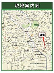 新発売/ベルエアランド・御蔵60坪売地(建築条件付き):案内図