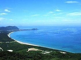 分譲地に程近い、幣の浜海岸。