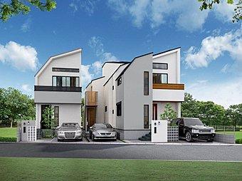 ≪完成予想パース≫ 菅野エリアに堂々誕生! デザイナーズ住宅で全3棟! 早くも1棟成約済みです!
