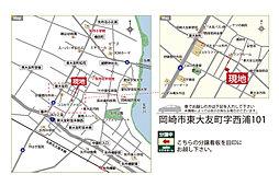 東大友ガーデン :ミキホーム: 国産の愛知県産無垢材にこだわる自然素材の家:交通図