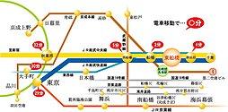 JR東船橋駅徒歩10分 南口の静かな住宅地エリアに全13区画の新しい街並み:交通図