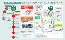 箕面森町宅地分譲【建築条件なし】:交通図