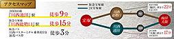 グレースタウン川西能勢口-加茂-【新築分譲 全5区画】:交通図