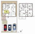 B区画は2Fに4部屋の5LDK!角地の4LDK(A区画)もご用意しております。