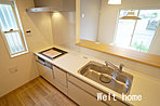 キッチン 奥様をサポートする食洗機付きの対面キッチン♪家事もスムーズに♪ 13号棟
