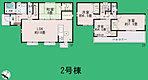間取り 各部屋に収納スペースがありスッキリお住まいいただけます♪ 2号棟