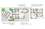 3LDK + ウォークインクローゼット + 納戸 ●敷地面積167.09m2 ●延床面積92.93m2
