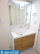 3面鏡の洗面化粧台
