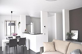 1号棟同仕様リビング ※家具はイメージです。