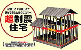 家全体で地震を吸収し、建物の揺れ幅を半分以下に低減!