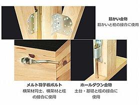 耐震・耐久性を高める「耐震金物」