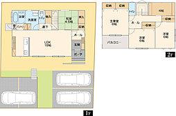 南に面した明るいLDKは隣接する和室と合わせて22.5帖。洗濯物干しにも便利なインナーバルコニーは急な雨にも安心。