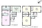 2号棟 全居室6帖以上で2面採光の明るいお部屋です。和室が1部屋あるので落ち着いた雰囲気で心癒されます!