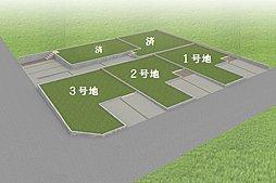 【 全体区画図 】全5区画!南面道路で日当たり良好の土地!駐車場3台可能!