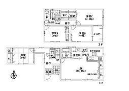 2号地 -和室離れのある家-ゆったり落ち着ける和室離れ。玄関からも近く、出入りしやすい♪お客様専用として、プライベート空間でくつろぎたい家族用として等、便利な空間♪2WAYワイドバルコニーもございます