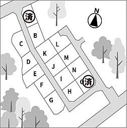全15区画の分譲地です。
