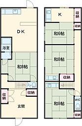 山崎荘C 1階3LDKの間取り