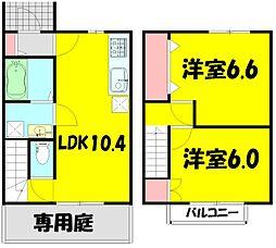 桜Legend 1階2LDKの間取り