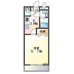 JR両毛線 伊勢崎駅 3.6kmの賃貸アパート 2階1Kの間取り