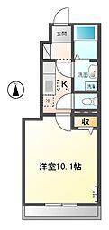 東武越生線 武州唐沢駅 徒歩1分の賃貸アパート 1階1Kの間取り