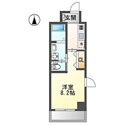 JR東海道本線 金山駅 徒歩5分の賃貸マンション 2階1Kの間取り
