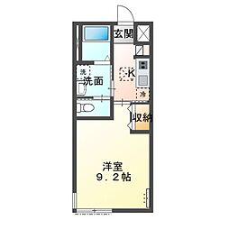 JR成田線 下総橘駅 バス13分 知手団地入口下車 徒歩16分の賃貸アパート 1階1Kの間取り