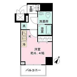 N-stage Toyoda 11階ワンルームの間取り