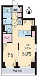 COURT TAKETOKU III 5階1LDKの間取り