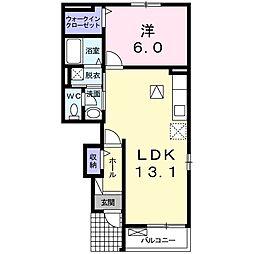 東武日光線 杉戸高野台駅 徒歩20分の賃貸アパート 1階1LDKの間取り