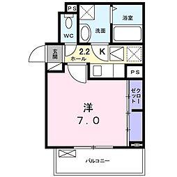 名古屋市営名城線 茶屋ヶ坂駅 徒歩14分の賃貸アパート 1階1Kの間取り