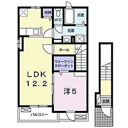 JR東海道本線 清水駅 バス22分 中央共選場前下車 4.8kmの賃貸アパート 2階1LDKの間取り