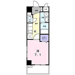 沖縄都市モノレール 古島駅 バス43分 諸見下車 徒歩4分の賃貸マンション 6階1Kの間取り