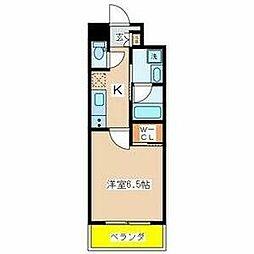 東葛西6丁目新築マンション 2階1Kの間取り