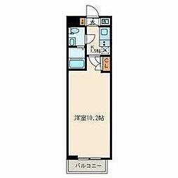 西武新宿線 武蔵関駅 徒歩8分の賃貸マンション 4階1Kの間取り