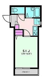 プレシャスメゾン目黒 4階1Kの間取り