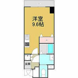 名古屋市営東山線 東山公園駅 徒歩5分の賃貸マンション 2階ワンルームの間取り